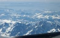 Swiss Alps from above