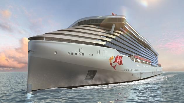 Rendering of Virgin Voyages' first Lady Ship