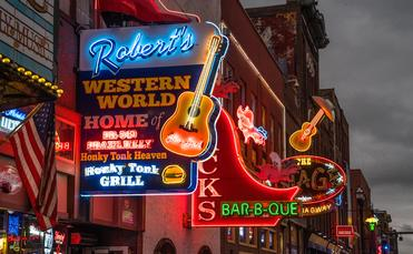 Nashville, Tennessee's Broadway Strip