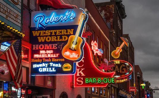 Nashville, Tennessee's Broadway Strip