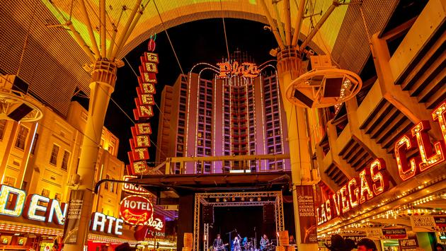 A free concert at the Fremont Street Experience in Downtown Las Vegas