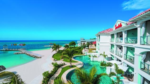 The newly renovated Sandals Montego Bay