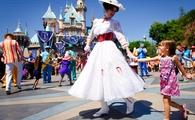 Mary Poppins dances at Disneyland