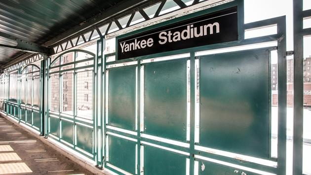 New York City public train station platform at Yankee Stadium. (photo courtesy of littleny/iStock/Getty Images Plus)
