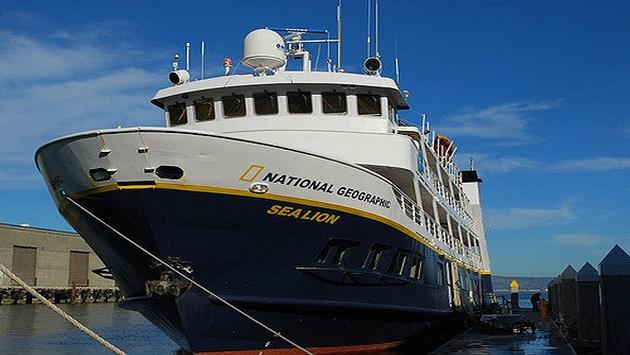 Lindblad's Sea Lion cruise ship docked in San Francisco