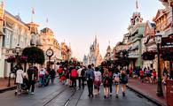 Main Street U.S.A and Cinderella's Castle at Walt Disney World