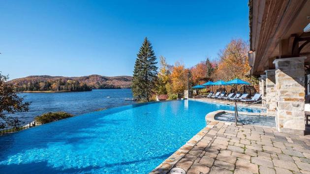 La piscine du Quintessence est ouverte à l'année