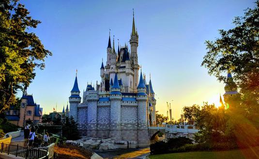 Side View of Cinderella's Castle at Walt Disney World