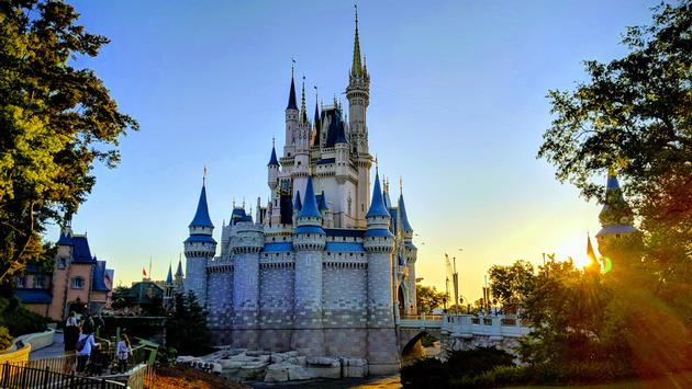Side View of Cinderella's Castle at Walt Disney World