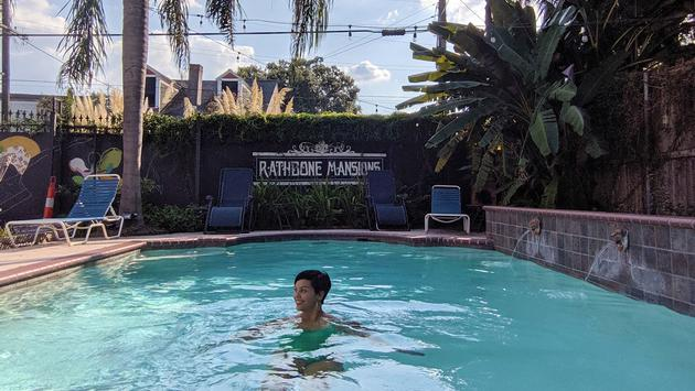 pool, Rathbone Mansions, inn, New Orleans