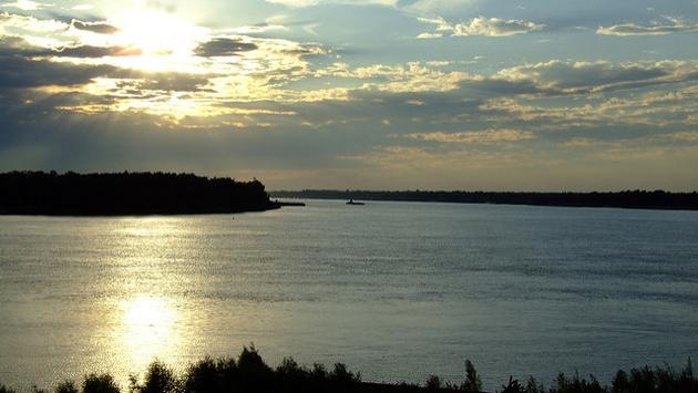The Mississippi River in Baton Rouge, Louisiana