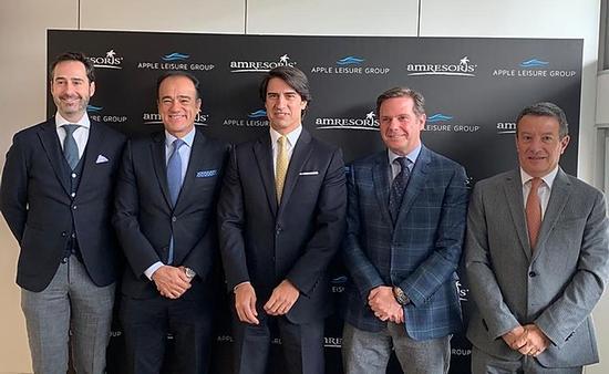 Javier Águila, Presidente de la División Europea de ALG; Alejandro Zozaya, presidente de ALG; Alejandro Reynal, CEO; Javier Coll, Vicepresidente; Gonzalo del Peón, AMResorts