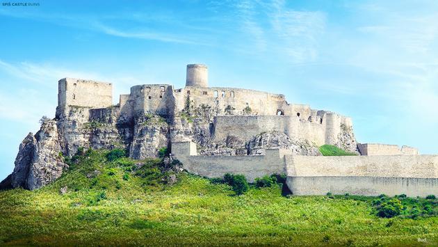 Ruined 12th-century Spis Castle, Spisske Podhradie, Slovakia.