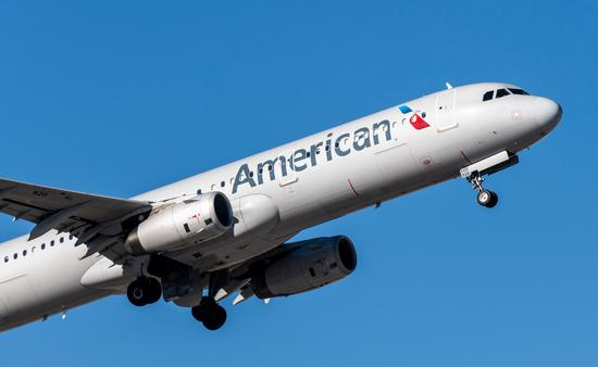 American Airlines flight prepares to land at Las Vegas' McCarran International Airport