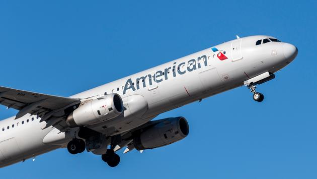 American Airlines flight prepares to land at Las Vegas' McCarran International Airport