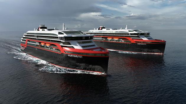 Hurtigruten's MS Roald Amundsen and MS Fridtjof Nansen