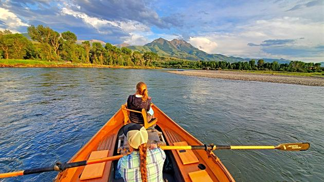 River-dory float on the Yellowstone River, arranged by Sage Lodge