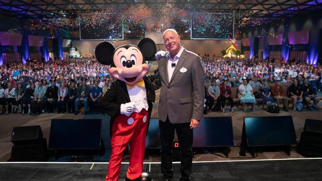 Mickey and Bob Chapek
