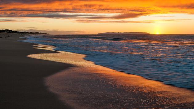 Sunset at Polihale Beach on Kauai.