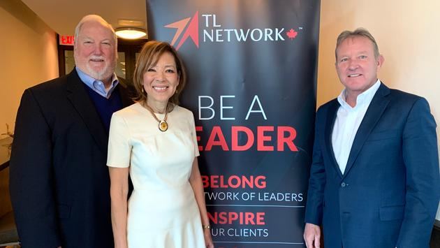 L to R: Roger Block - President of Travel Leaders Network, Christine James - Vice President of TL Network Canada;  John Lovell - President, Leisure Travel, Supplier Relations & Netowrk, Travel Leaders Group