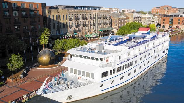 American Cruise Lines' coastal ship in Savannah, Ga.