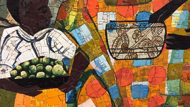 Romare Bearden 'Before Dawn' mural