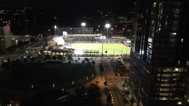 View of BB&T Park from Kimpton Tryon Park Hotel