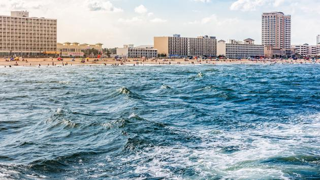 Virginia Beach from the ocean