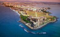 Aerial view of San Juan, Puerto Rico.