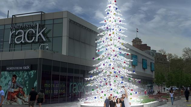 Christmas Tree at Empire Outlets on Staten Island
