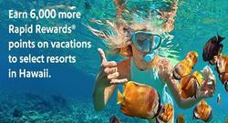 Hawaii Rapid Rewards: Earn 6,000 more Rapid Rewards Points