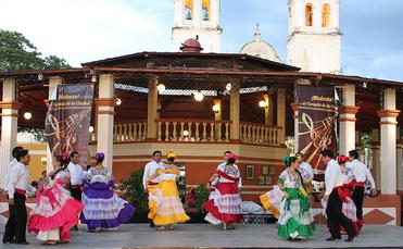 Locals dancing in San Francisco de Campeche, Mexico