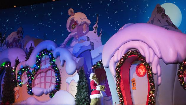 The 'Grinchmas Who-Lindsay Spectacular' show, part of Universal Orlando's holiday celebration