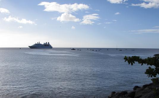 Windstar Cruises ship in Montserrat
