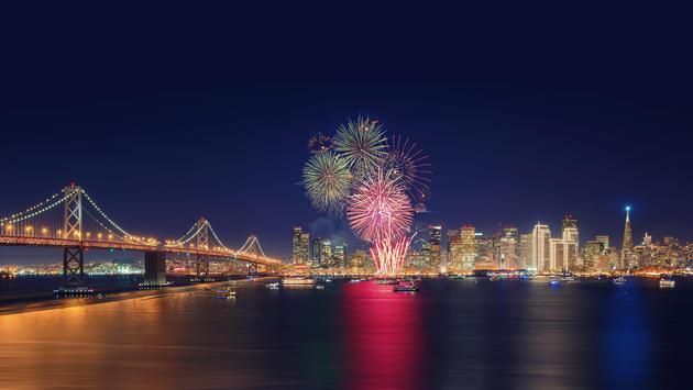 Fireworks over San Francisco