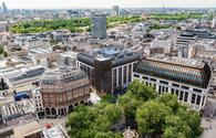 An aerial view of Leicester Square and The Londoner