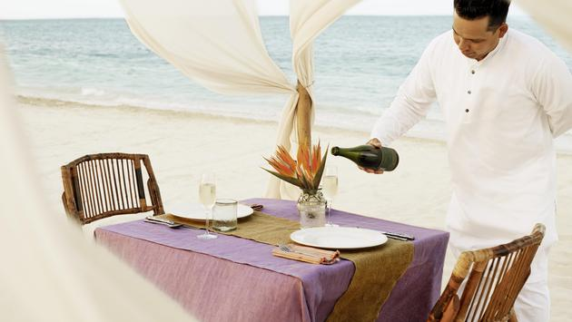 Beach service at Excellence Riviera Cancun