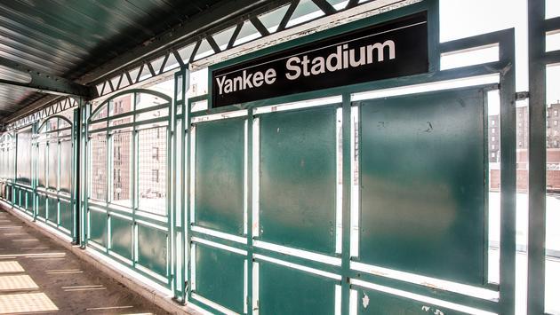 New York City public train station platform at Yankee Stadium. (photo courtesy of littleny/iStock/Getty Images Plus)