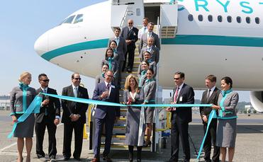 Handover ceremony for Crystal AirCruises' Crystal Skye