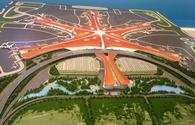 Scale model of Beijing Daxing International Airport.