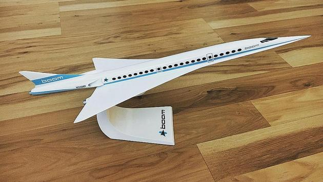 Boom Supersonic passenger aircraft prototype model