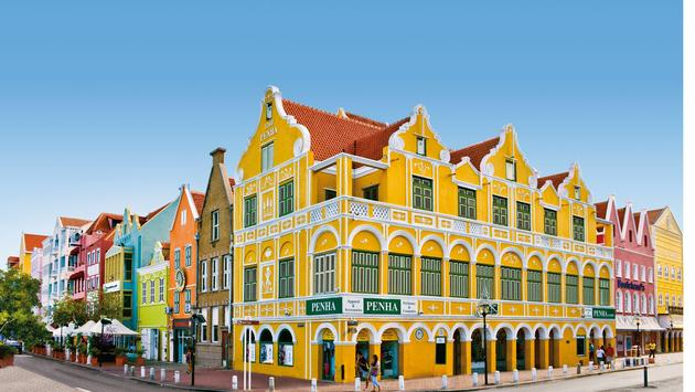 Colorful buildings in Willemstad, Curacao.