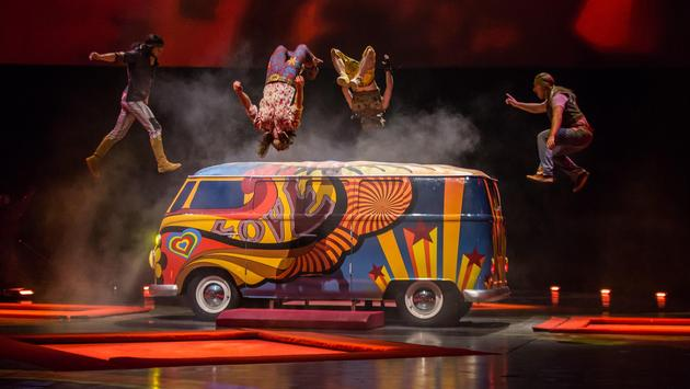 Cirque du Soleil performance at The Mirage