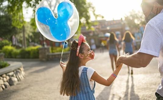 Family Wearing Masks Inside Disney Parks