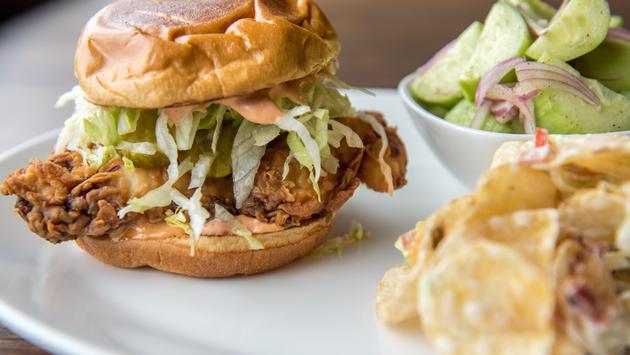 Buttermilk fried chicken sandwich, Airport Restaurant Month