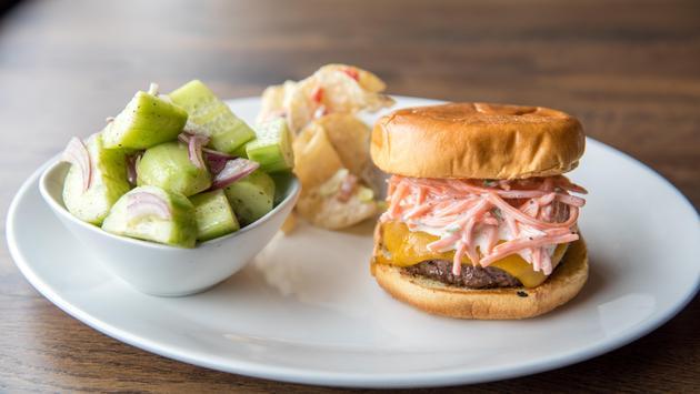 Spicy slaw burger, Airport Restaurant Month