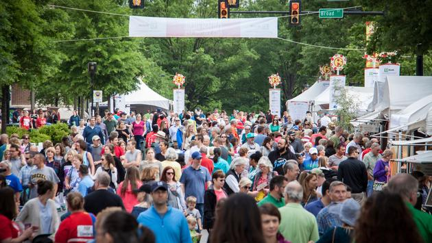 Crowds at Artisphere in Greenville, South Carolina