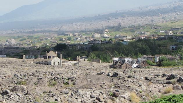 The 1995 eruption of Montserrat's Soufriere Hills volcano buried the capital city of Plymouth in pyroclastic mud and ash