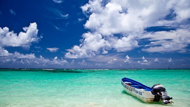 Shoreline scene at Punta Cana, Dominican Republic