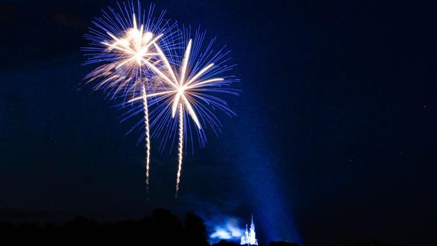 Fireworks over Walt Disney World in Orlando
